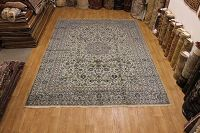 Floral Green 10x13 Kashan Persian Area Rug