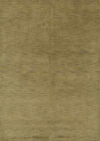 Army Green Modern 6x8 Gabbeh Indian Oriental Area Rug