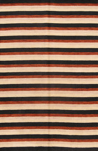 Striped Modern 7x10 Gabbeh Indian Oriental Area Rug