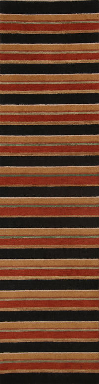 Striped Modern  3x10 Gabbeh Indian Oriental Rug Runner