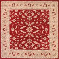 All-Over Floral Square 10x10 Kashan Agra Oriental Area Rug