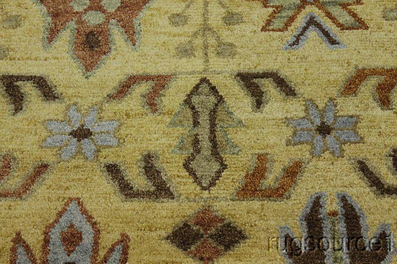 Hand-Knotted Gold All-Over Oushak Kazak Oriental Area Rug 8x10