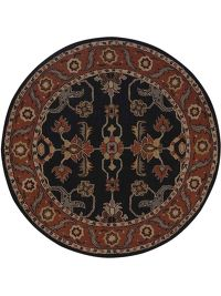 All-Over Hand-Tufted Oushak Oriental Area Rug Wool 8x8 Round