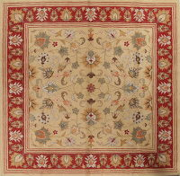 Hand-Tufted Square Gold Oushak Oriental Area Rug 12x12