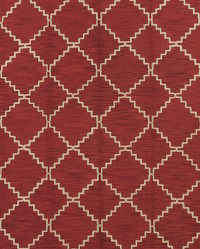 Hand-tufted Trellis Oriental Red Area Rug 8×11