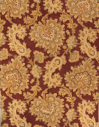 Hand-Tufted Paisley Red Oushak Oriental Area Rug 9x12