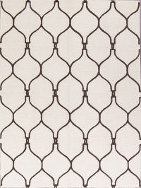 Hand Tufted Modern 8x11 Moroccan Trellis Oriental Area Rug
