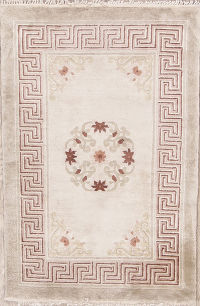 Floral Ivory 2x3 Art-Deco Peking Chinese Oriental Area Rug