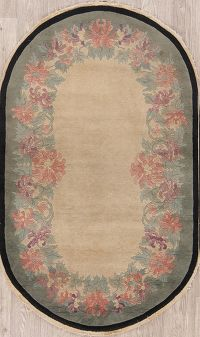 Floral Oval 3x5 Art Deco Peking Chinese Oriental Area Rug