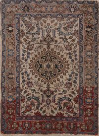 Antique 4x6 Tabriz Persian Area Rug