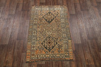 Antique Tribal Qashqai Shiraz Persian Area Rug 4x7