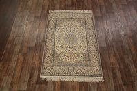 5x8 Signed Silk Isfahan Persian Area Rug