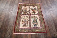 3x5 Antique Tabriz Persian Area Rug