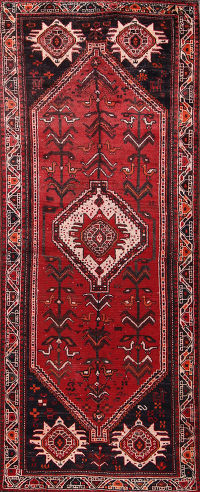 4x9 Shiraz Persian Runner Rug