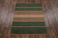 Hand-tufted Striped Modern 6x8 Gabbeh Indian Oriental Area Rug