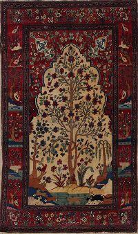 Antique 5x8 Tehran Persian Area Rug
