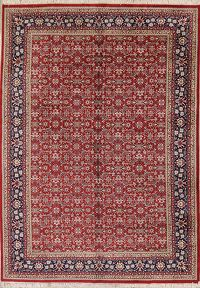 All-Over Floral Red 8x12 Tabriz Herati Oriental Area Rug