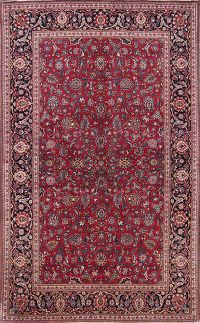 Antique 4x7 Kashan Persian Area Rug