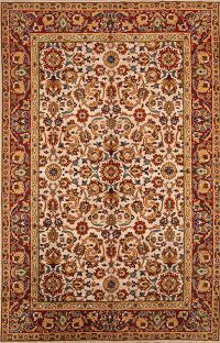 All-Over Floral Oushak Turkish Oriental Hand-Knotted Area Rug 8x12