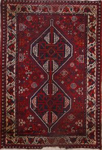 Geometric Tribal 4x5 Shiraz Persian Area Rug