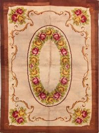 6x9 French Savonnerie Aubusson Oriental Area Rug