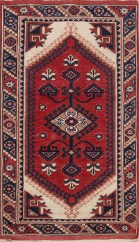 3x4 Kazak Turkish Oriental Area Rug