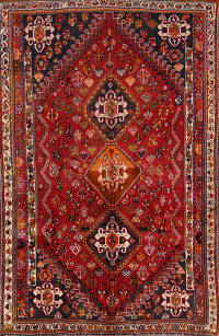 Qashqai Shiraz Tribal Persian Area Rug 5x8