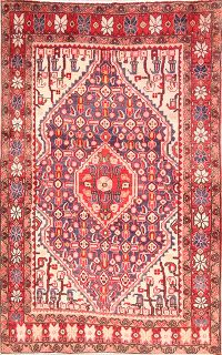 Geometric 3x5 Sarouk Persian Area Rug