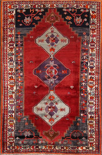 Geometric Tribal Kashkoli Shiraz Persian Area Rug 5x8