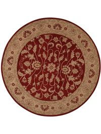 Hand-Tufted Floral Oushak Oriental Round Rug 10x10