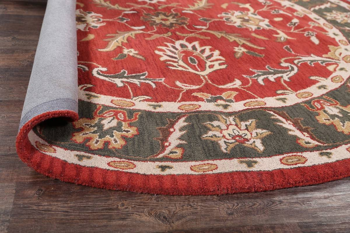 Hand-Tufted Floral Round Oushak Agra Oriental Area Rug 8x8