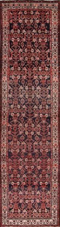 All-Over Floral Hamedan Malayer Persian Runner Rug 4x14