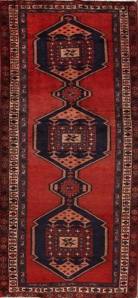 Geometric Tribal Meshkin Persian Runner Rug 4x10