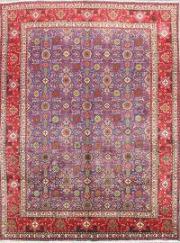 All-Over Purple 10x13 Tabriz Persian Area Rug
