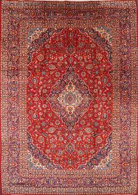 Red Floral Mashad Persian Area Rug 10x13