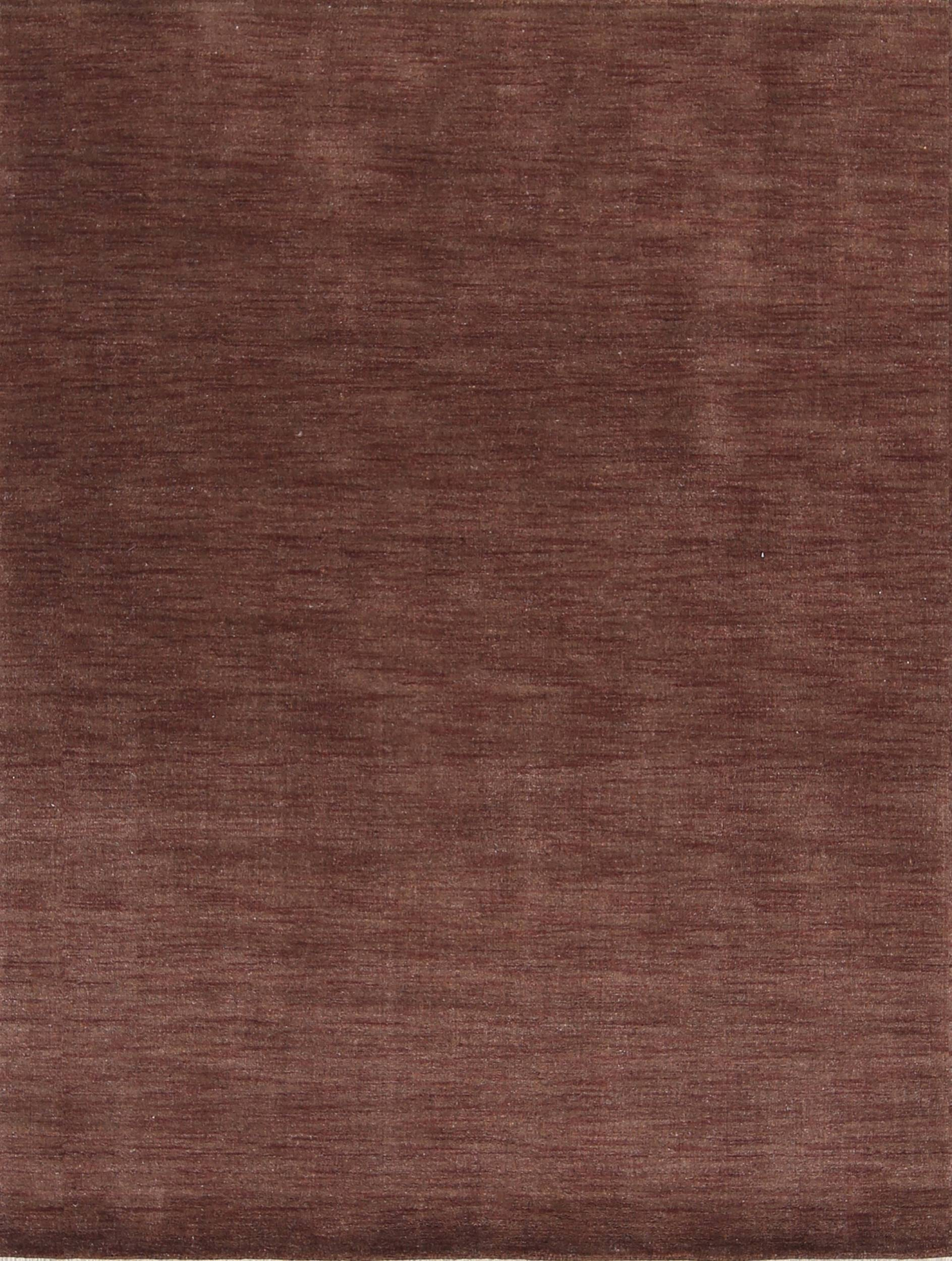 Contemporary Solid Modern 5x7 Gabbeh Indian Oriental Area Rug