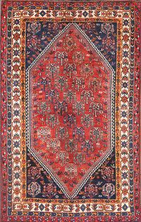 Antique Tribal 5x8 Lori Shiraz Persian Area Rug