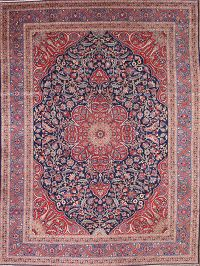 Antique 9x12 Tabriz Persian Area Rug