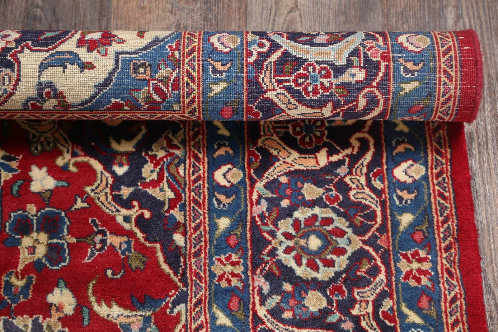 Red Floral 7x10 Mashad Persian Area Rug