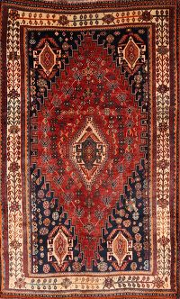 Antique Vegetable Dye 5x8 Lori Shiraz Persian Area Rug
