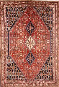 Antique 7x10 Kashkoli Abadeh Persian Area Rug