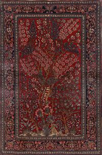 Antique Tree Of Life 5x7 Isfahan Persian Area Rug