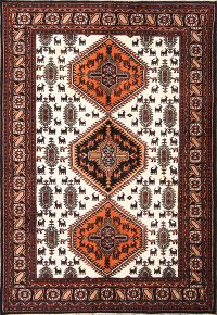 Geometric 6x8 Kazak Indian Oriental Area Rug