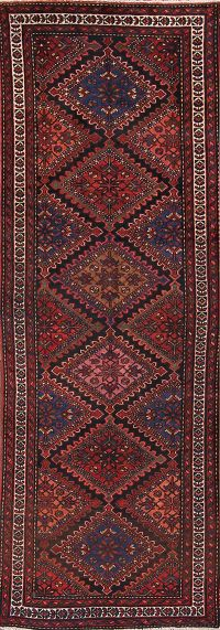 Antique Hamedan Malayer Persian Runner Rug 3x10