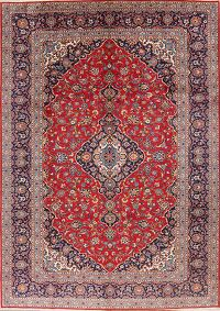 Floral 9x12 Kashan Persian Area Rug