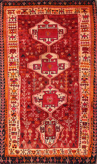 5x8 Kashkoli Shiraz Persian Area Rug