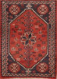 Geometric Tribal Shiraz Persian Area Rug 4x5