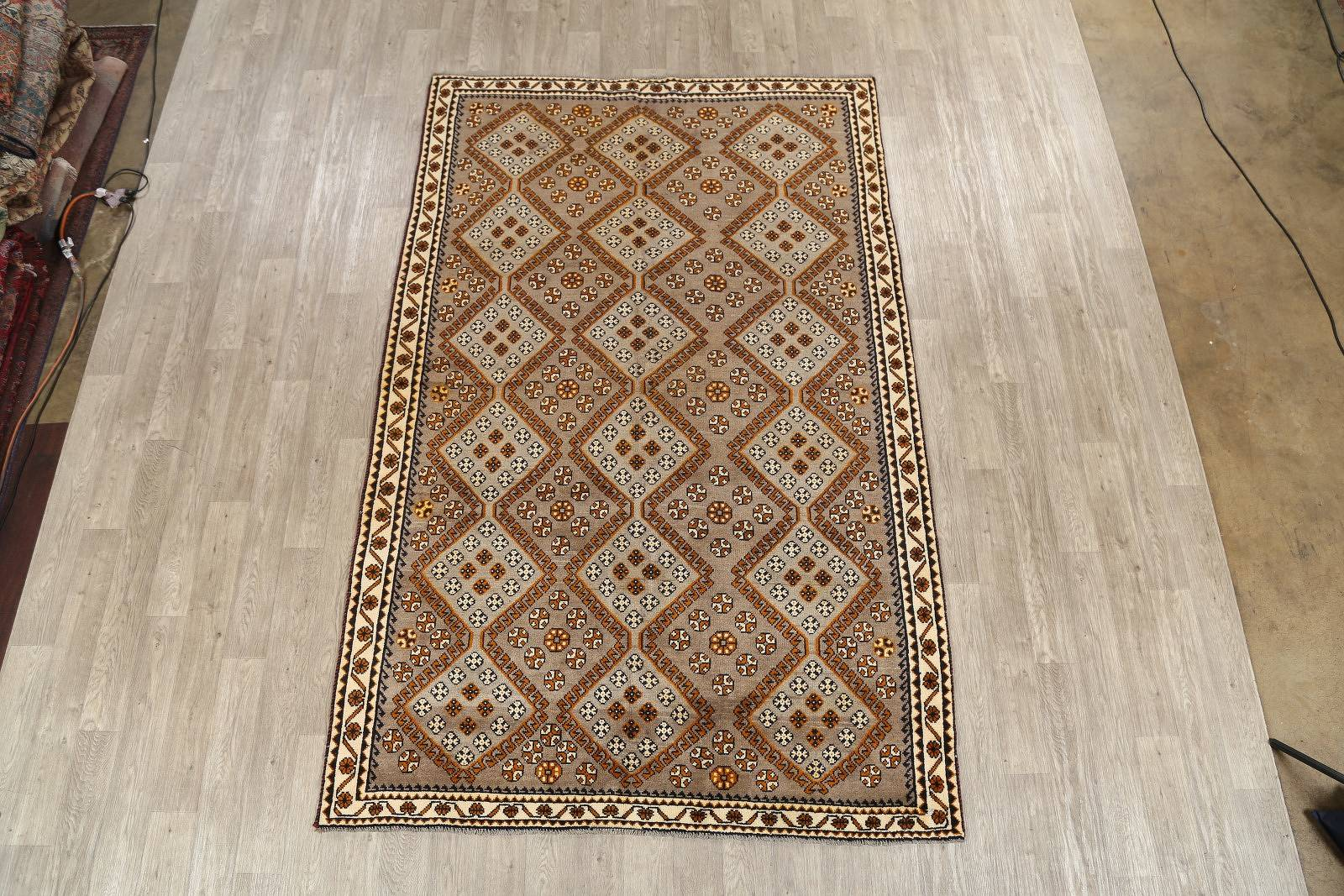 6x9 Gabbeh Shiraz Persian Area Rug