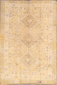 Antique Washed-Out Color Abadeh Shiraz Persian Area Rug 5x8