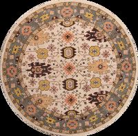 Hand-Tufted Round Oushak Oriental Area Rug 10x10